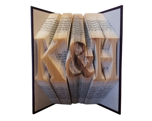"""The initials shown in this folded book are """"K&H"""""""