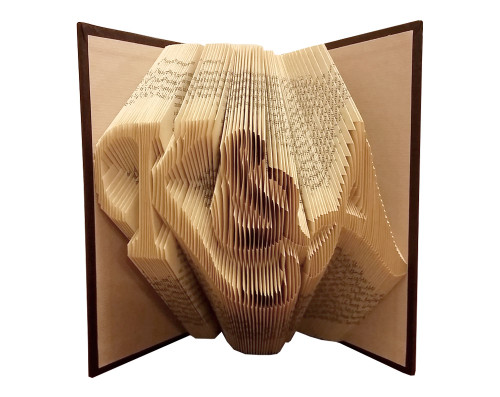 """Folded book art with the initials """"K&A"""" in a script font"""