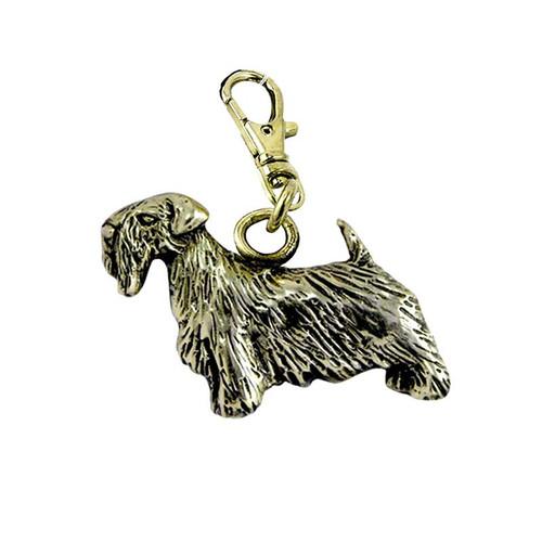 Sealyham Terrier Zipper Pull Brass