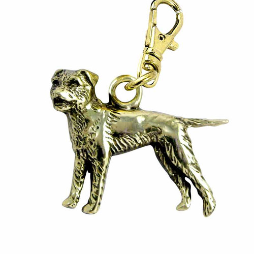 Border Terrier Zipper Pull Brass