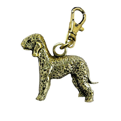 Bedlington Terrier Zipper Pull Brass