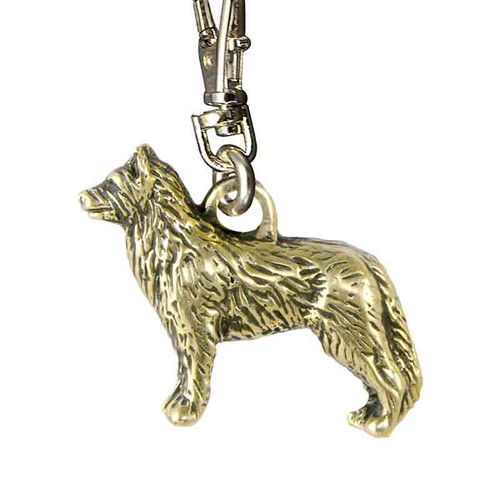Australian Cattle Dog Zipper Pull Brass