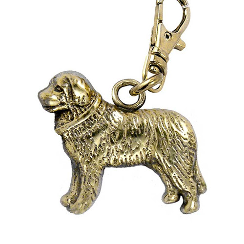 Bernese Mountain Dog Zipper Pull Brass