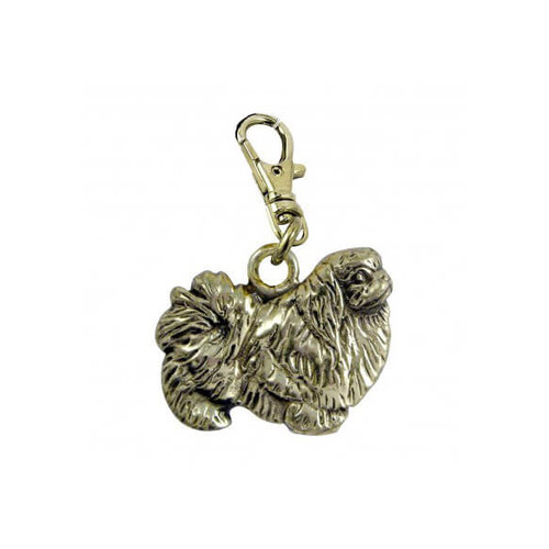 Pekingese Zipper Pull Brass