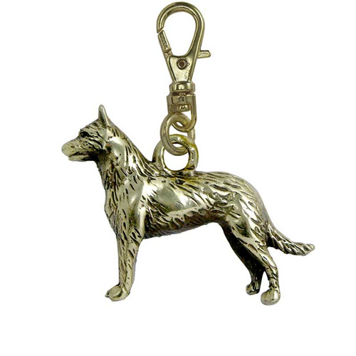 Belgian Malinois Zipper Pull Brass