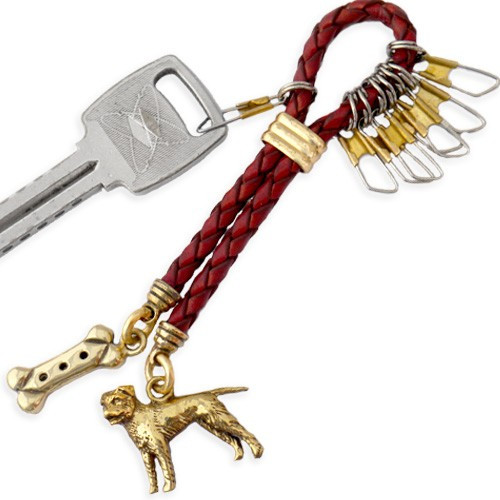 Leather and Brass Keyline Key Chain