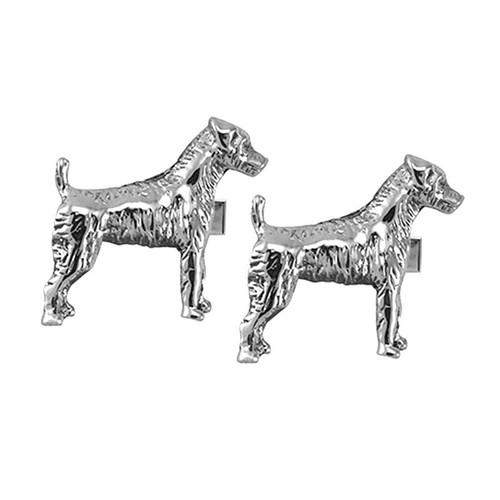 Jack Russell Terrier Cufflinks - Rough