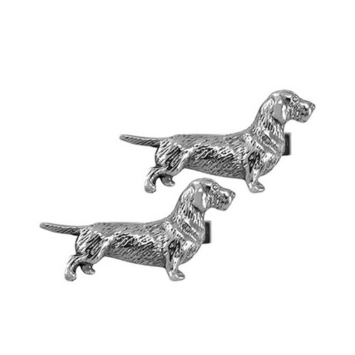 Dachshund Wire Haired Cufflinks