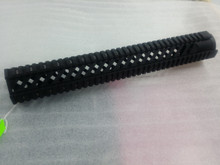 "15"" AR-15 free float quad rail slanted vents"