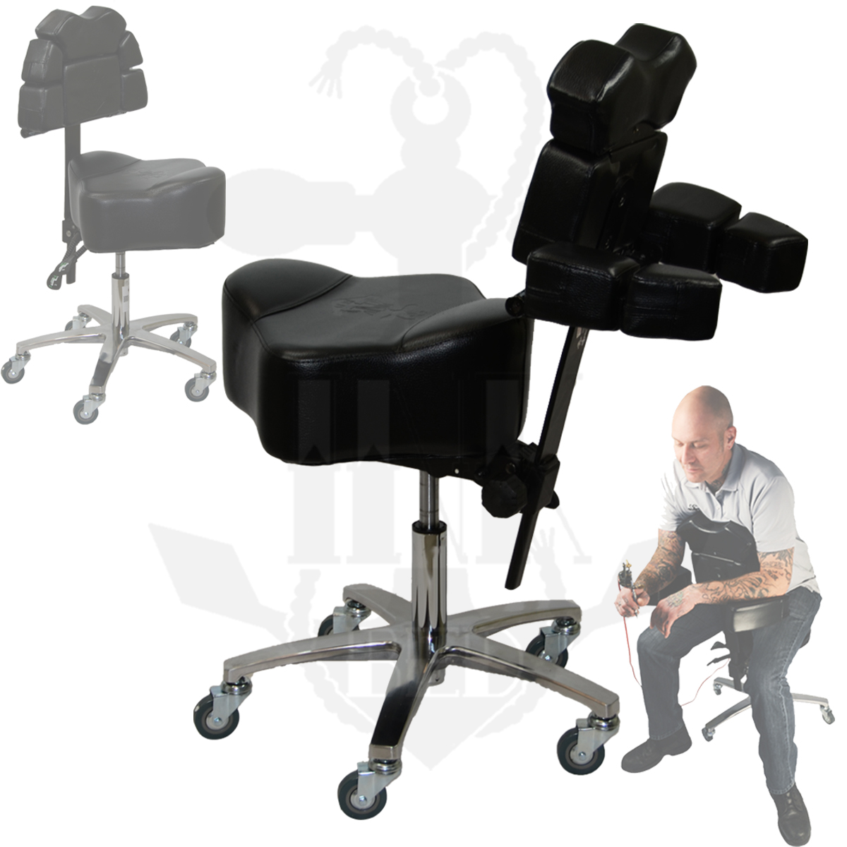 inkchair inkstool deluxe ergonomic client artist package inkbed
