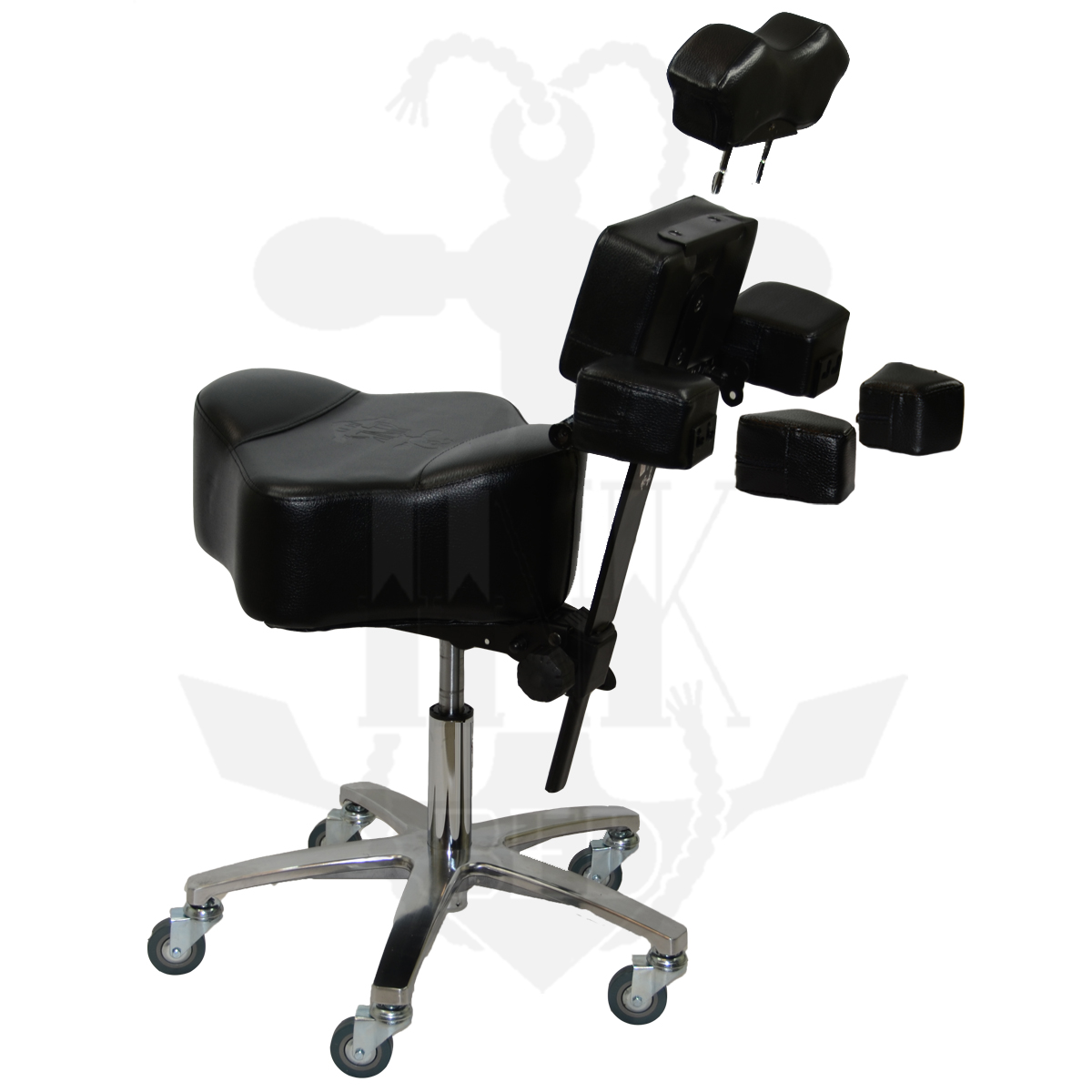 The Patented Revolutionary Ergonomic InkStool™  sc 1 st  InkBed & InkChair™ u0026 InkStool™ Deluxe Ergonomic Client u0026 Artist Package - InkBed