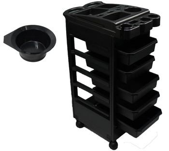 Ultra-Light Durable Plastic  5-Drawer Workstation on Wheels