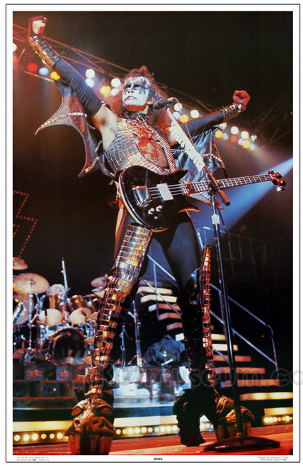 Kiss Alive Ii Poster 1977 Gene Simmons Kiss Museum