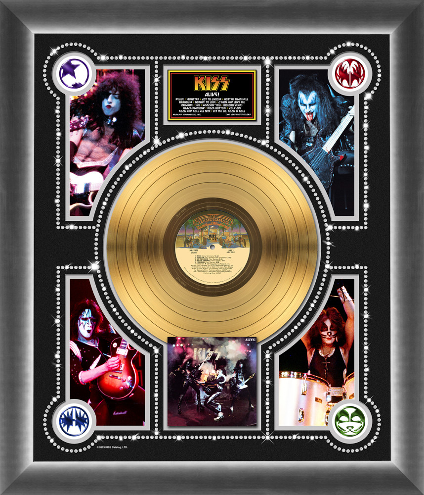 Kiss Gold Record Kiss Alive Photo Montage Kiss Museum