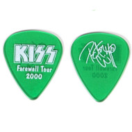 KISS Guitar Pick - Peter Criss Farewell 2000 Tour (dark green)