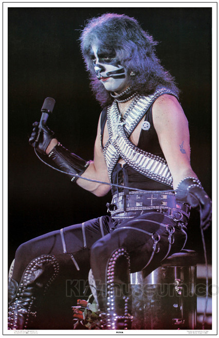 Kiss Poster Alive Ii Stage 1977 Peter Criss Kiss Museum
