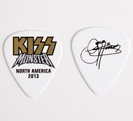 KISS Guitar Pick - Monster Gold Logo Gene