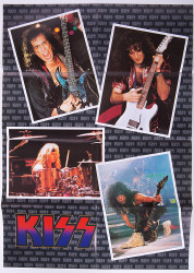 KISS Poster - Czech Republic 1993, (folded)