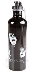 KISS Water Bottle - Black Stainless Steel
