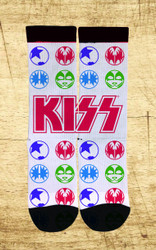 KISS Socks - White Icons