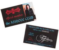 Gene Simmons Asshole Fanclub Membership Card, (set of 3)