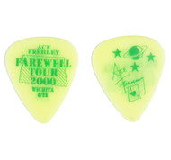 KISS Guitar Pick - Ace Frehley City Pick, Wichita 2001 lime green