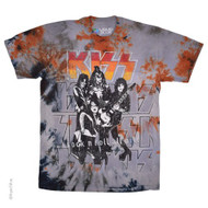 KISS T-Shirt - KISS Rock and Roll All Nite, Grey Tie-Dye