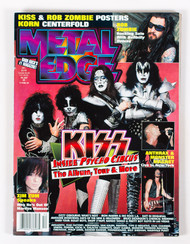 KISS Magazine - Metal Edge, Inside Psycho Circus December 1998