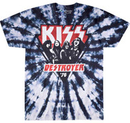 KISS T-Shirt - Destroyer '76 Tie-Dye Triangle