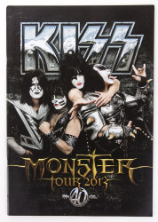 KISS Tourbook - Monster, 2013, 40th Anniversary