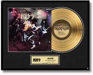 KISS Gold Record - Alive LP