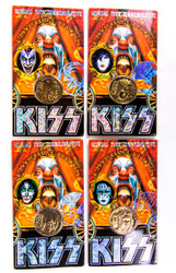 KISS Coin - Gold Plated 24 kt, set of 4