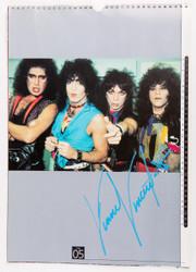 Vinnie Vincent Autograph - 1995 KISS Calendar