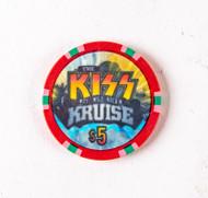 KISS Poker Chip - $5 KISS Kruise I