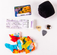 KISS Concert Pack - Atlantic City NJ, 2004 w/Microphone Cover and Gene Costume Fragment