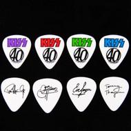 KISS Guitar Pick -  40 Years, Decades of Decibels, (set of 4)