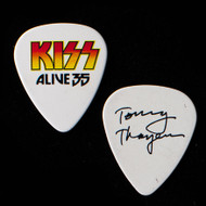 KISS Guitar Pick - Alive 35, Orange/Yellow Logo, Tommy