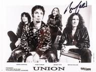 KISS Autograph - Bruce Kulick Union 8x10 photo, black and white