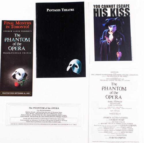 Paul Stanley Phantom of the Opera - Program plus more - KISS Museum
