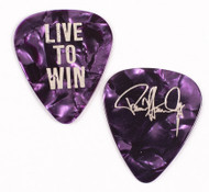 Paul Stanley Guitar Pick - 2006 Live to Win Solo Tour, silver on purple pearl