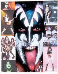 KISS Autograph - Butterfield's Auction 8 x 10, Gene Simmons,