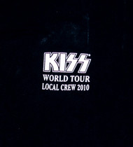 KISS T-Shirt - Roadie Shirt KISS World Tour Local Crew 2010, (Washed and Worn), size XL
