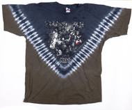 KISS T-Shirt - Tie-Dye Vee, (washed and worn), size XL