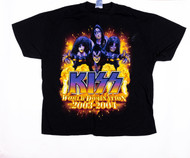 KISS T-Shirt - World Domination, tour dates, (size XL)