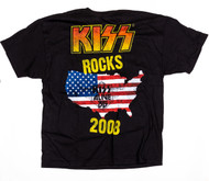 KISS T-Shirt - KISS Rocks 2008 Flag, (size XL)