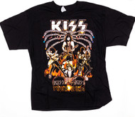KISS T-Shirt - KISS Tour 2014, Spider Stage (size XL)