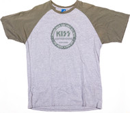 KISS T-Shirt - KISS Coffeehouse Olive Heather Jersey, (size XL)