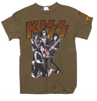 KISS T-Shirt - Alive Olive Loud and Proud, (size S)