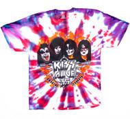 KISS T-Shirt - Alive 35 Tie-Dye, (size XL)