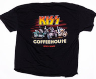 KISS T-Shirt - KISS Coffeehouse, Motorcycles, (Washed and Worn), size XL
